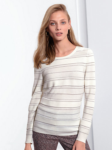Fadenmeister Berlin - Round neck pullover with knit detail