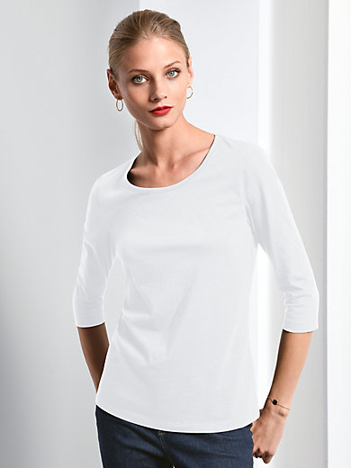 Fadenmeister Berlin - Round neck top with 3/4-length sleeves