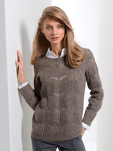 Fadenmeister Berlin - Rundhals-Pullover aus hochwertigem Material-Mix