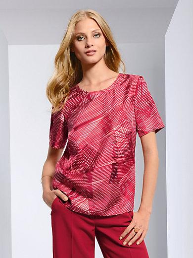 Fadenmeister Berlin - Shirt met korten mouwen van 100% zijde