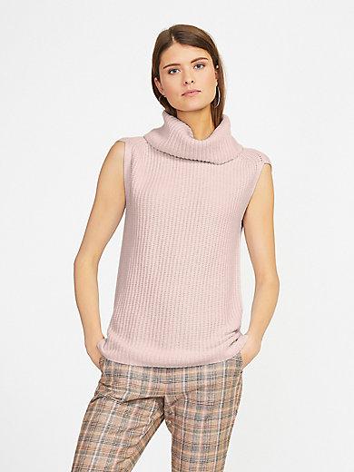 Fadenmeister Berlin - Sleeveless roll-neck jumper in 100% cashmere