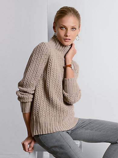 Fadenmeister Berlin - Stehkragen-Pullover aus 100% Kaschmir