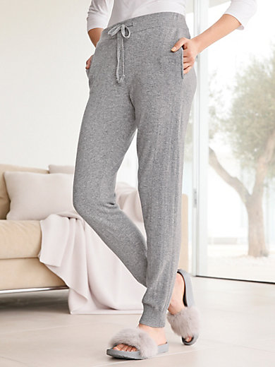 FLUFFY EARS - Knitted trousers in 100% cashmere