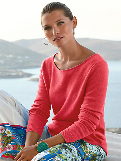 FLUFFY EARS - Round neck jumper in Pure cashmere in premium qual