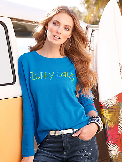 FLUFFY EARS - Rundhals-Pullover aus 100% PREMIUM Kaschmir