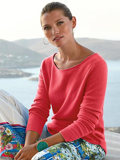 FLUFFY EARS - Rundhalsad tröja i 100% kashmir i Premium-kvalitet