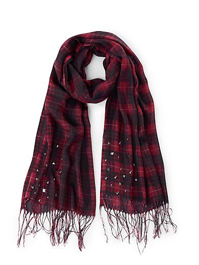 59f4bd6d2e92 FRAPP - L écharpe - rouge noir