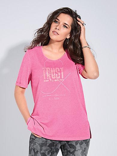 FRAPP - Rundhals-Shirt mit Struktur