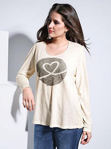 FRAPP - T-shirt med rund hals