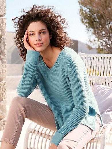 FTC Cashmere - V-ringad tröja i 100% kashmir