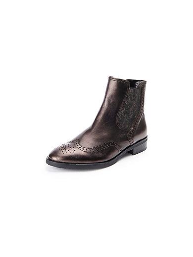 Gabor - Les bottines en cuir, modèle Chelsea - marron foncé métallisé da96c95b91ef