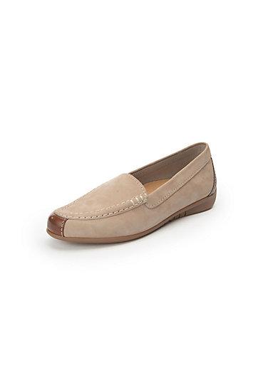 Gabor - Les mocassins en cuir, surpiqûres mode