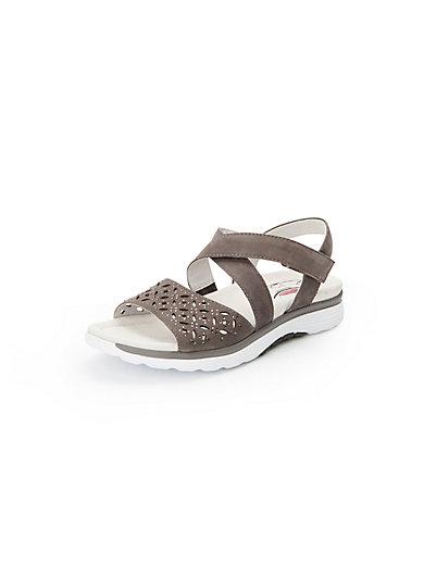 Gabor Les sandales en cuir à brides, pierres fantaisie