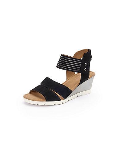 Gabor - Sandale mit feinem Nietenbesatz und Keilabsatz