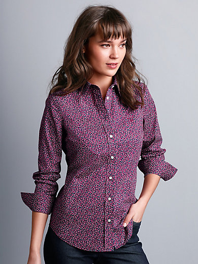 GANT - Blouse with small collar and rounded hem