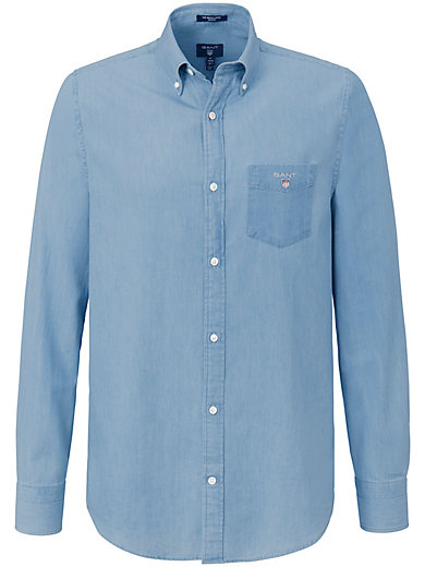 GANT - Denim shirt with a button-down collar