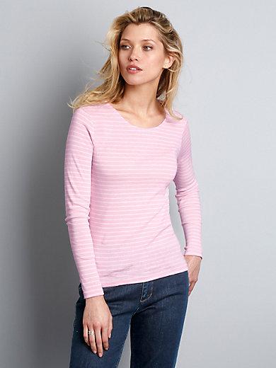 GANT - Le T-shirt rayé en pur coton, manches longues