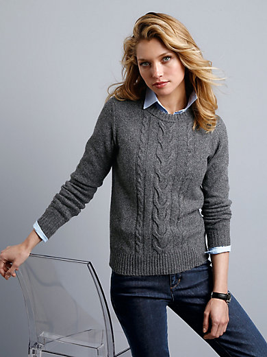 GANT - Round neck jumper with cable stitching
