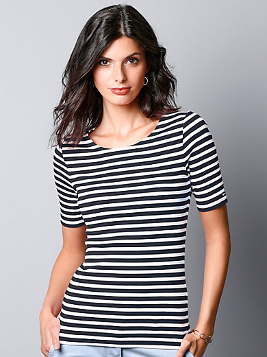 GANT - Round neck top with short sleeves