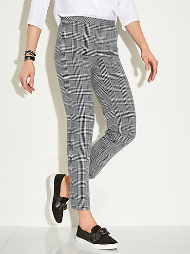 Gerry Weber Edition - Ankle-length trousers - black white 06a542c2b0a2