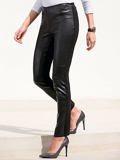 Gerry Weber - Le pantalon en cuir nappa, ligne slim