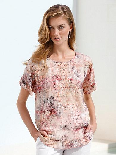 Gerry Weber - Le T-shirt-chemisier, mancherons tombants volantés