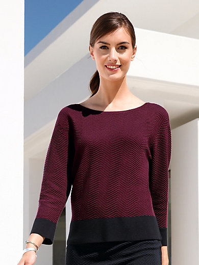 Gerry Weber - Round neck jumper with 3/4-length sleeves