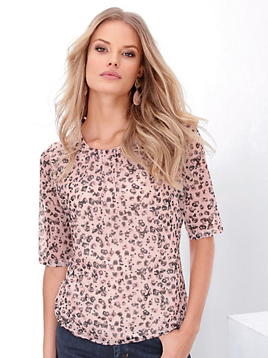 Gerry Weber - Round neck top with short sleeves