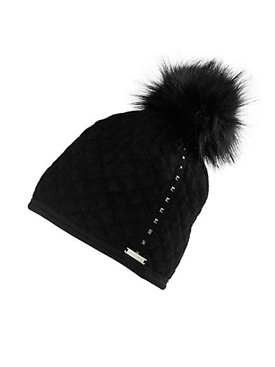 b4983c04ef8 Giesswein - Hat with fake fur bobble - black