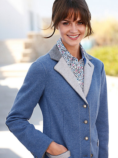 Giesswein - Le blazer en pure laine foulée, ligne cintrée