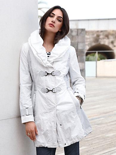 Gil Bret - Lange jas met iets asymmetrische kraag