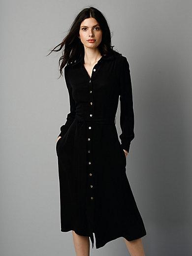 GOAT - Jurk van 100% zijde met overhemdkraag