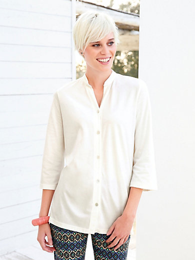 Green Cotton - Blouse with 3/4-length sleeves