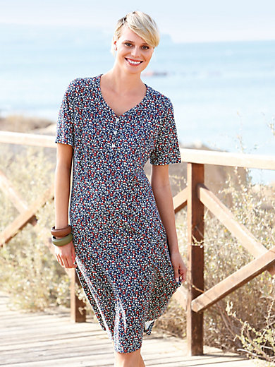 Green Cotton - Dress with short sleeves