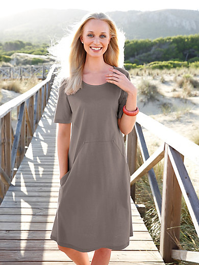 Green Cotton - Jersey dress with short sleeves