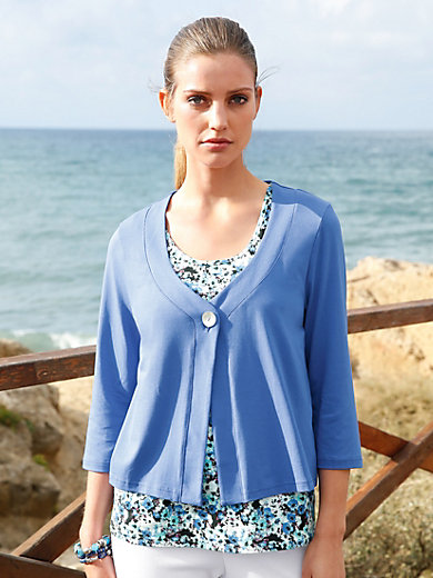 Green Cotton - Jersey jacket with 3/4-length sleeves