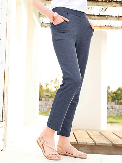 Green Cotton - Leggings in Denim-Optik