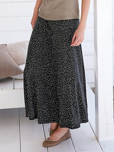 Green Cotton - Long slip-on skirt