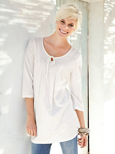 Green Cotton - Tunic with 3/4-length sleeves and 100% cotton