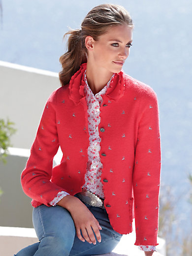 Hammerschmid - Cardigan in 100% milled wool