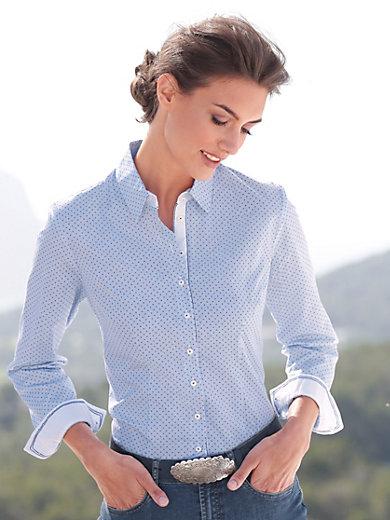 Hammerschmid - Le chemisier à rayures en pur coton