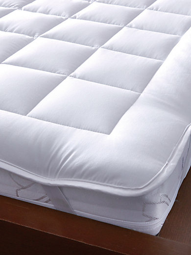 hefel le sur matelas en pur coton 90x200 cm blanc. Black Bedroom Furniture Sets. Home Design Ideas