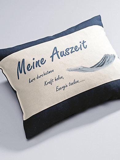 """Himmelgrün - Kissen """"Meine Auszeit"""", ca. 30x20cm"""
