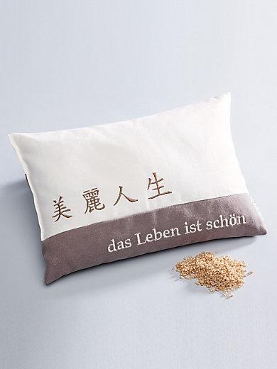 """Himmelgrün - Kräuter-Kissen """"Das Leben ist schön"""", ca. 30x20cm"""