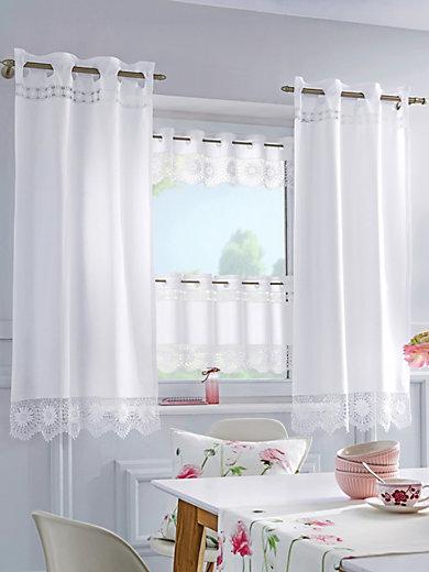Hossner - Le rideau opaque avec broderie, 70x150 cm - blanc
