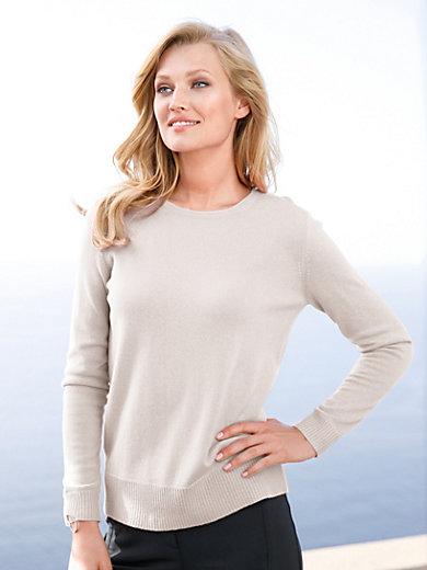 include - Bluse i 100% kashmir med moderne ryg