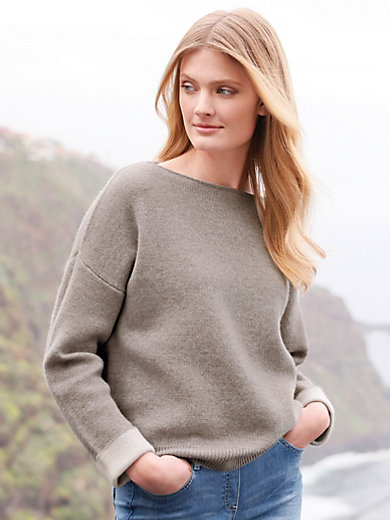 include - Boat neck jumper in 100% cashmere