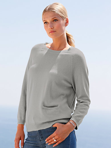 include - Crew neck jumper in 100% cashmere