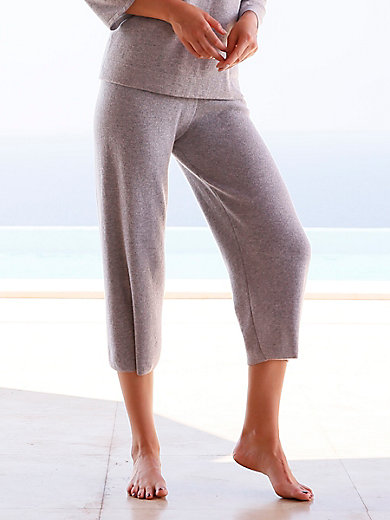 include - Knitted 7/8-length trousers in Pure cashmere in pr