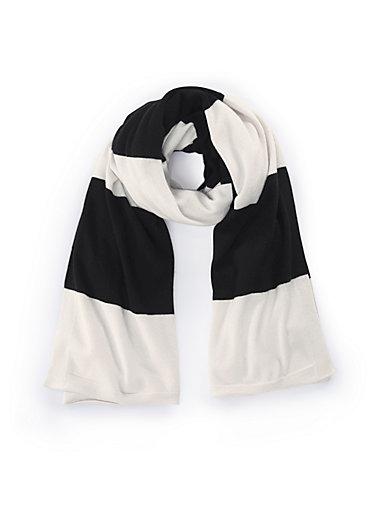 90e9f041325 include - L écharpe 100% cachemire - blanc cassé noir